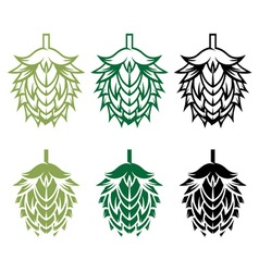 Hops design template vector