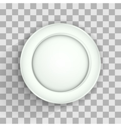 Plate on transparent vector