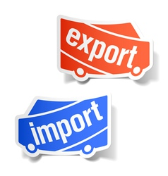 export and import labels vector image