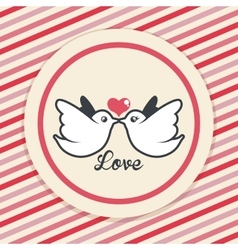 Love and romantic icons design vector