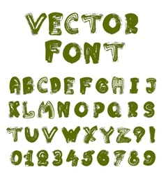 English alphabet vector
