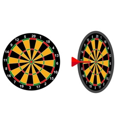 Darts game arrow vector