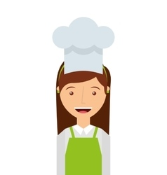Professional chef isolated icon design vector