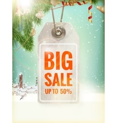 Christmas sale tag eps 10 vector