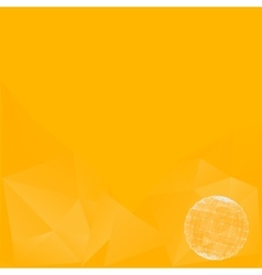 abstract background in yellow tones icons vector image