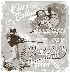 baseball ballgame vector image vector image