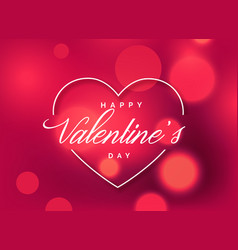 beautiful valentines day greeting background with vector image vector image