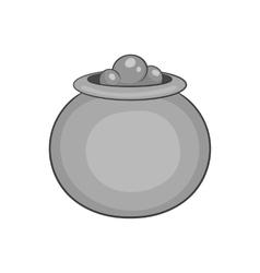 Boiler sorcerer icon black monochrome style vector