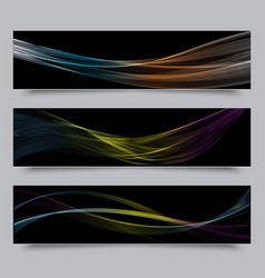 Bright colors wave horizontal banner vector