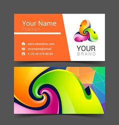 Business card creative design template corporate vector