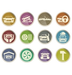 Car srvice icons vector