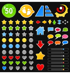 Collection of buttons8 vector image vector image