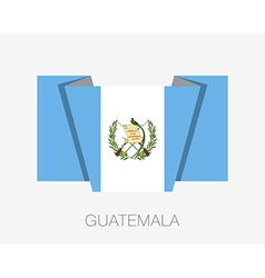 Flag of guatemala flat icon vector