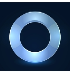 Frame round glass glowing vector