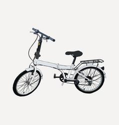 hand drawn modern bike sketch vector image vector image