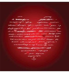 Heart Love background vector image vector image