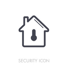 House safety lock with keyhole icon vector
