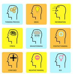 human mind and thought vector image
