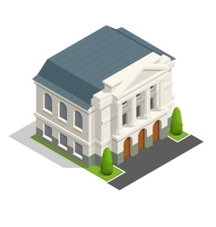 Mayoralty isometric building architecture vector