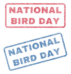 National bird day textile stamps vector