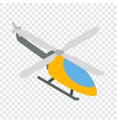 Orange helicopter isometric icon vector