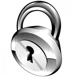 padlock vector image vector image