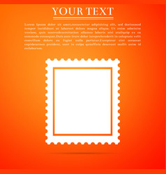 Postal stamp icon isolated on orange background vector