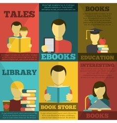 Reading Poster Set vector image vector image