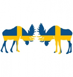 rutting moose vector image vector image
