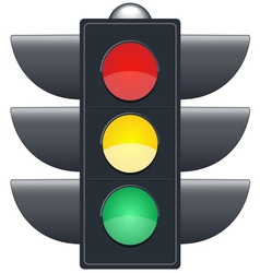 Traffic lights on white background vector image vector image