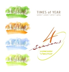 Watercolor seasons vector image vector image