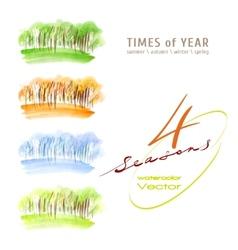 Watercolor seasons vector image