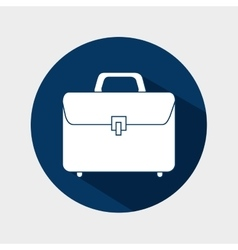 Suitcase portfolio business isolated vector