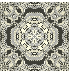 Traditional ornamental floral paisley bandanna vector