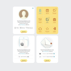 Infographics messaging vector