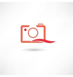 Red line camera vector
