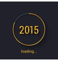 2015 Gold progress loading bad vector image vector image