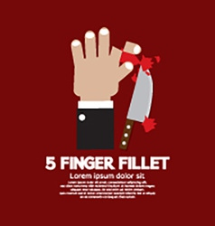 Accident of five finger fillet game vector