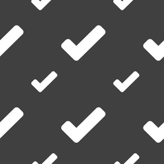 Check mark tik icon sign seamless pattern on a vector