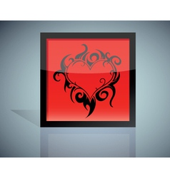 Tattoo heart vector