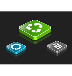 3d recycle icon set vector