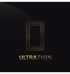 Ultrathin o letter vector