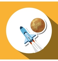 Rocket design science concept cosmos icon vector