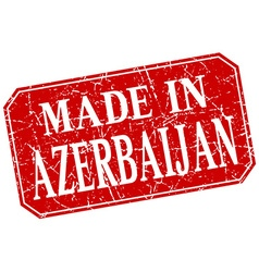 Made in azerbaijan red square grunge stamp vector