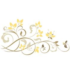 Floral element vector
