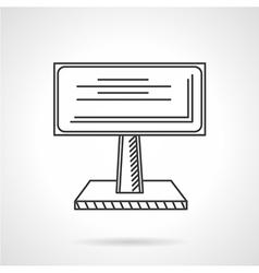 Advertising billboard line icon vector image
