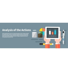Analysis actions Concept of businessman using vector image vector image