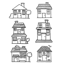 Art of house and building vector