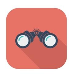 Binoculars flat icon vector