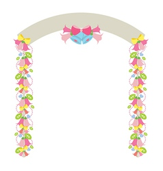 Colorful flowers arch vector